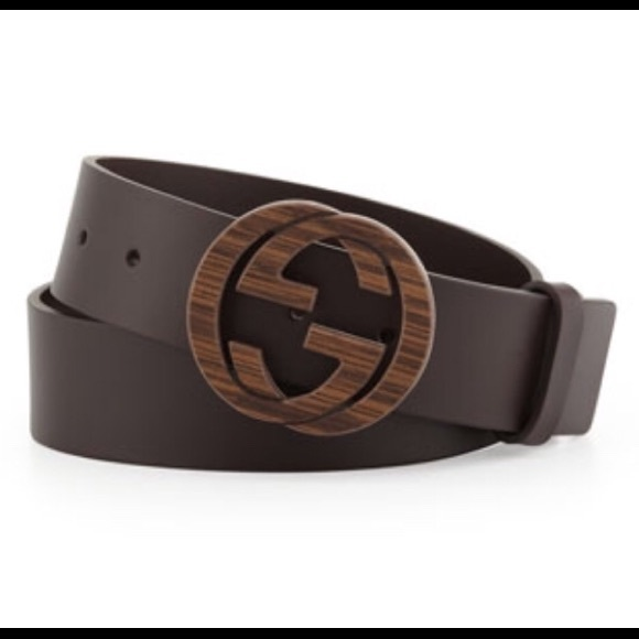 e642065eb Mens Gucci wood interlocking G buckle Leather Belt.  M_5c05855ce944ba823bf70ab1